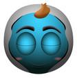 happy baby emoji vector image
