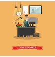office worker at his vector image