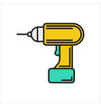 screwdriver icon on white background vector image