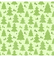 Seamless green pattern with hand drawn christmas vector image