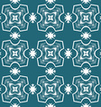 Seamless ornate pattern in white on blue vector image