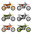 Sport motorcycles set vector image