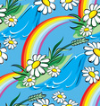 spring rainbow seamless vector image