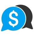 Money Messages Flat Icon vector image