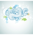 Abstract sea waves and marine life background vector image
