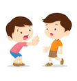 Child hand stop vector image