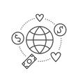Fund Raising Label vector image