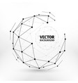 Broken connection network 3d polygon wireframe vector image
