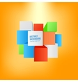 abstract background Square and 3d object vector image vector image
