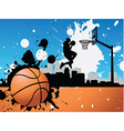 artistic basketball vector image vector image