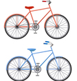 two bikes vector image vector image