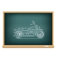 board motorcycle vector image vector image