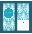 light blue swirls damask vertical round vector image vector image