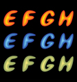 letters efgh vector image