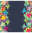 Butterfly Border Color vector image