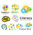 creative brain genius school human development vector image