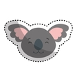 cute koala character icon vector image