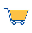shopping cart marketing ecommerce business online vector image