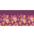 Sweet grape vines horizontal seamless pattern vector image vector image