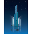 Future city poster vector image