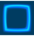 Square frame with glowing light vector image