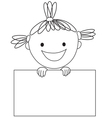 girl and rectangle vector image