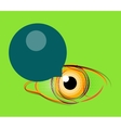 Abstract poster stylized eye with empty speech vector image