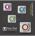 customer service icons service sign shiny with vector image