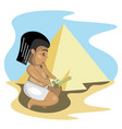 egyptian writes on parchment vector image