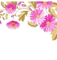 Flower background with violet flowers vector image