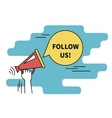 Follow us banner for social networks Flat line vector image