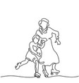 hand line drawing of roller skates vector image