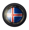 Iceland flag icon vector image