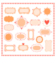 set romantic frames vector image