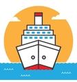 Ship sea cruise liner vector image