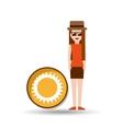 vacation woman sunny summer vector image