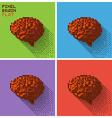 Pixel human brain vector image vector image