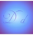 Letters D with Polygonal Pattern vector image