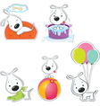Funny dogs vector image vector image