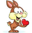 cute bunny hold heart - vector image