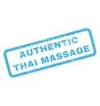 Authentic Thai Massage Rubber Stamp vector image