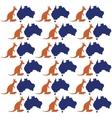 map kangaroo australia symbol seamless pattern vector image