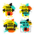 gym and fitness motivation quote set vector image