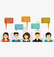 people talk infographic vector image vector image