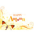autumn background with butterfly insect vector image