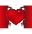 Valentine background with heart vector image