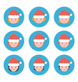 Flat design christmas female avatars icons vector image