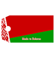 Belarus flag on price tag vector image