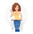 Shopping beautiful girl vector image