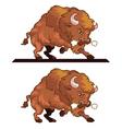 Angry Bull Mascot vector image